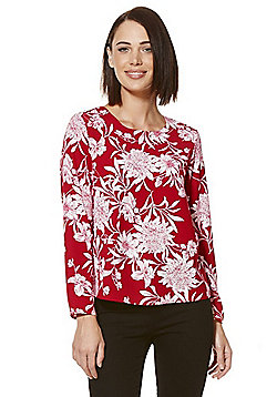 Only Floral Long Sleeve Top - Red