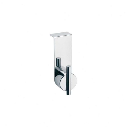 Blomus Duo Polished Narrow Overdoor Wardrobe Hook (Set of 2)
