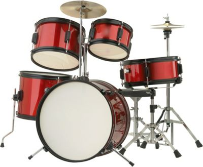 Rocket 5 Piece Junior Drum Kit - Red
