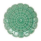 Green Flower Wall Plate