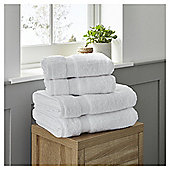 Fox & Ivy 4 Piece Egyptian Cotton White Towel Bale