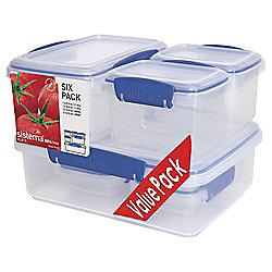 Sistema Klip It 6 Piece Food Storage