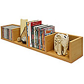 Virgo - Cd / Dvd / Blu-ray / Video Media Wall Storage Shelf - Beech
