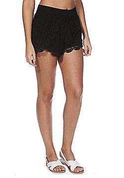 F&F Crochet Beach Shorts - Black