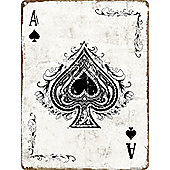 Ace Of Spades Tin Sign