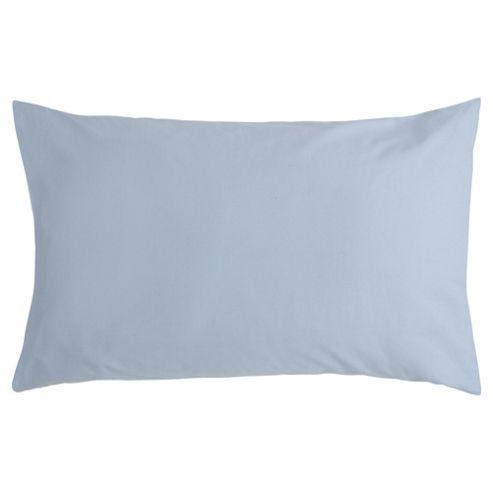 Tesco Pure Cotton Pillowcase Chambray Blue