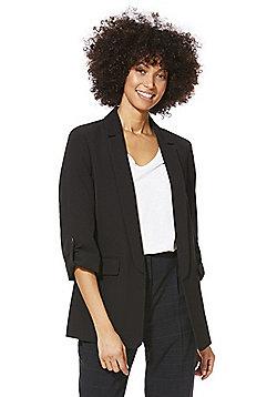 F&F Open Front Girlfriend Blazer - Black