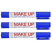 Playcolor Basic Make Up Pocket 5g Face Paint Stick (Pack of 3 - Blue)
