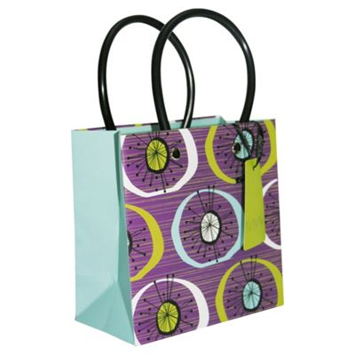 Plum Circles bag - small