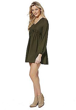 Miss Truth Frill Detail Dress - Khaki