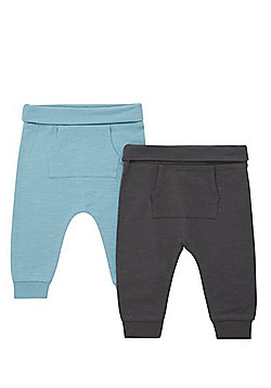 F&F 2 Pack of Jersey Joggers - Multi