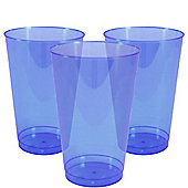 Royal Blue Plastic Tumbler Glasses - 414ml - 36 Pack