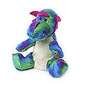 Intelex Warmies Heatable Rainbow Dragon Microwavable Cozy Plush Soft Toy