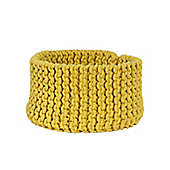 Homescapes Basket - Knitted - Yellow - 37 x 21 cm