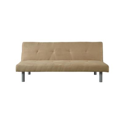 Comfy Living Faux Suede Sofa Bed In Cream