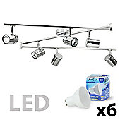 Rosie 6 Way LED Spotlight, Chrome