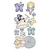 Graham & Brown Heirloom 3D Butterflies & Fairies Layered Wall Stickers