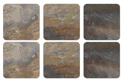Pimpernel Earth Slate Design Coasters Set of 6