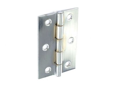 Securit S4309 Steel Butt Hinges Zp 100mm X2