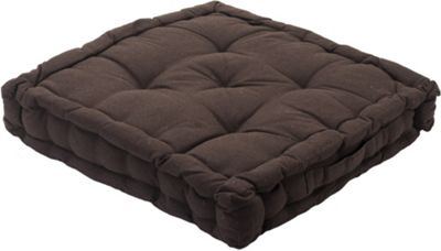 Chocolate Seat Pad Cushion Booster 100% Cotton Cover Extra Thick 10cm