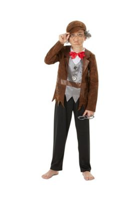 The World of David Walliams Mr Stink Fancy Dress Costume Brown 5-6 years