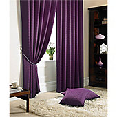 Alan Symonds Madison Pencil Pleat Curtains - Purple