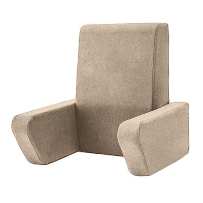 Soft Wool Effect 'Una' Foam Reading Back Rest Cushion - Latte