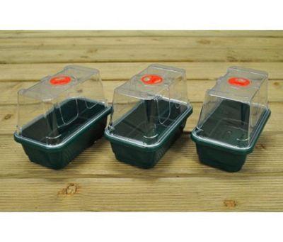 Pack of 3 Mini High Dome Seed Propagator (Unheated)