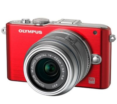 Olympus E-PL3 Red Compact System Camera with 14-42mm Lens Kit