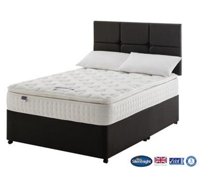 Silentnight Denver Double Divan Bed, Non-Storage, 1400 Pocket Latex