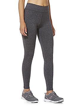 F&F Active Space Dye Fleece Lined Leggings - Grey