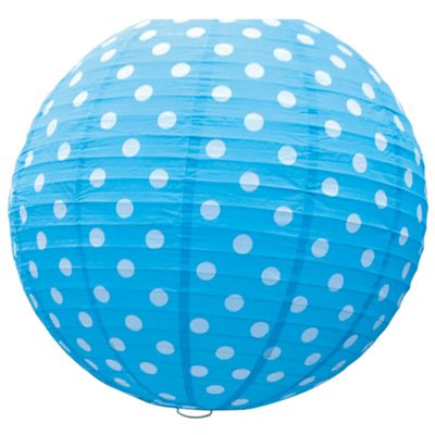 Happy Giant Paper Lantern - Turquoise