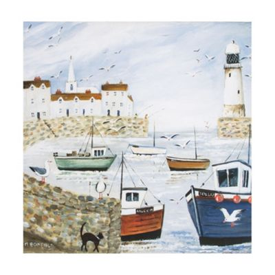 Art for Home Harbourside Lighthouse Canvas