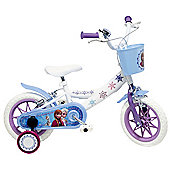 DISNEY Frozen 12 inch Wheel White Kids Bike.