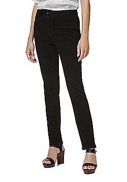 F&F Authentic High Rise Slim Leg Jeans - Black