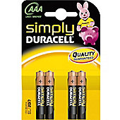 Duracell AAA Simply Batteries (Pack of 4)