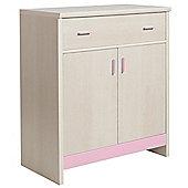 Fan Faro 1 Drawer 2 Door Cupboard With Pink Trims
