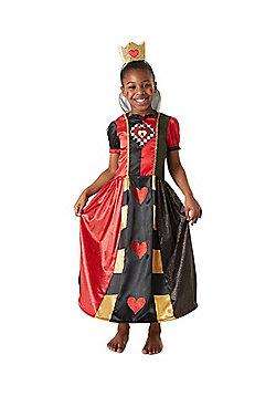 Disney Alice in Wonderland Queen of Hearts Fancy Dress Costume - Black & Red