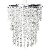 3 Tier Acrylic Crystal Ceiling Light Shade, Clear
