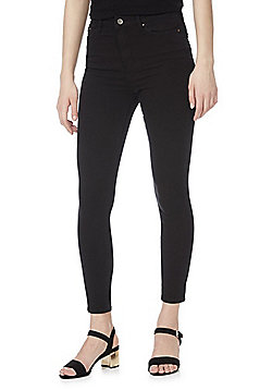 F&F Contour 4 Way Stretch Super High Rise Skinny Jeans - Black