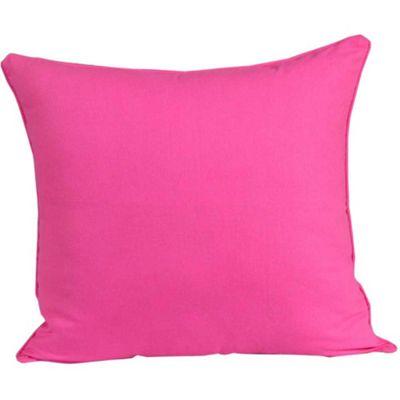 Homescapes Cotton Plain Cerise Cushion Cover, 60 x 60 cm