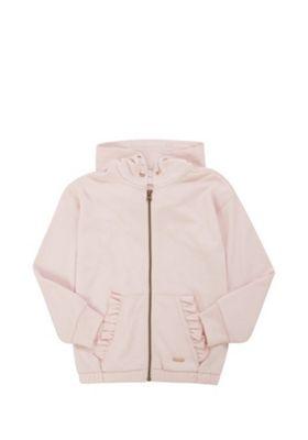 F&F Frill Detail Zip-Through Hoodie Blush Pink 5-6 years