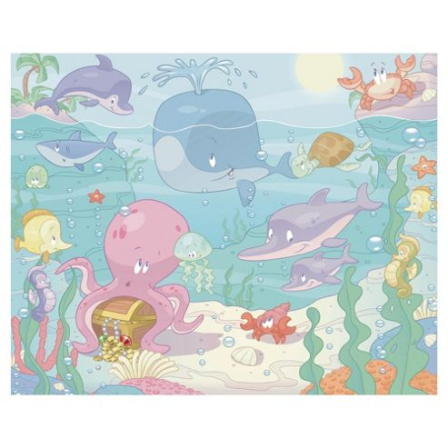 Baby Under the Sea Wallpaper Mural 8ft x 10ft