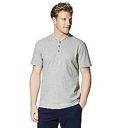 F&F Striped Baseball Collar Polo Shirt - Grey