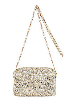 F&F Glitter Camera Bag Gold One Size