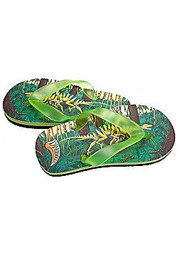 Dinosoles Dinoflips Raptor Kids Flip Flops - Green