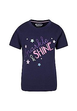 Mountain Warehouse Sparkle And Shine Kids Tee - Purple