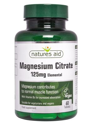 Natures Aid Magnesium Citrate 125mg - 60 Tablets