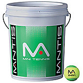 Mantis Mini Tennis Stage 1 Green Tennis Balls - 72 Ball Bucket
