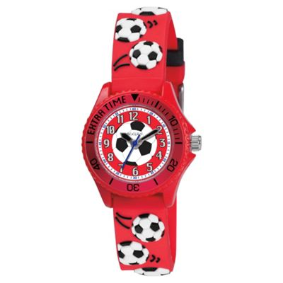 Tikkers Red Football Mad Watch